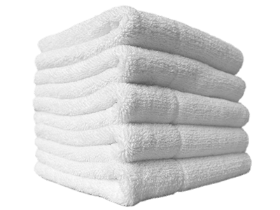 white bath towels
